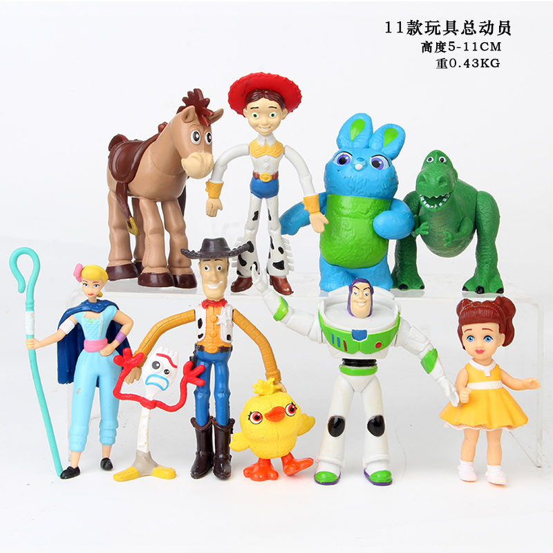 3/7/9/<font><b>12</b></font>/17pcs/set Movie Toy Story 4 Buzz Lightyear Woody Jessie Bullseye <font><b>Horse</b></font> Action <font><b>Figure</b></font> Toys Disney figura sets doll image