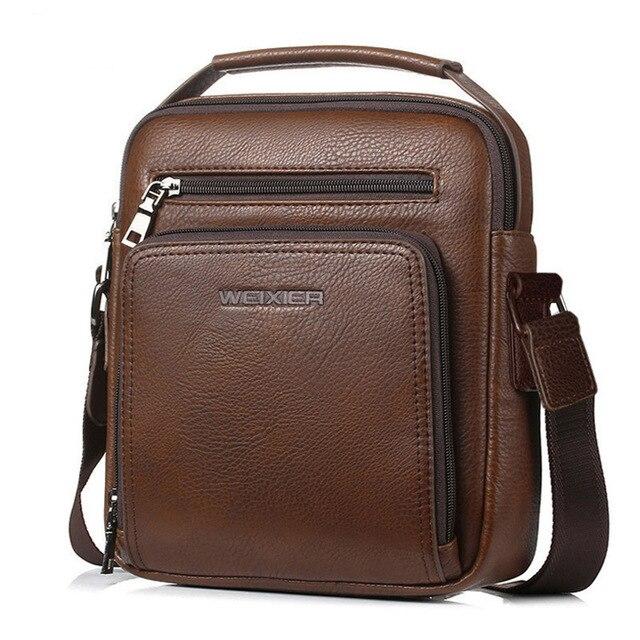 e60bef383130 2018 New Fashion designer high quality PU leather men shoulder bag ...