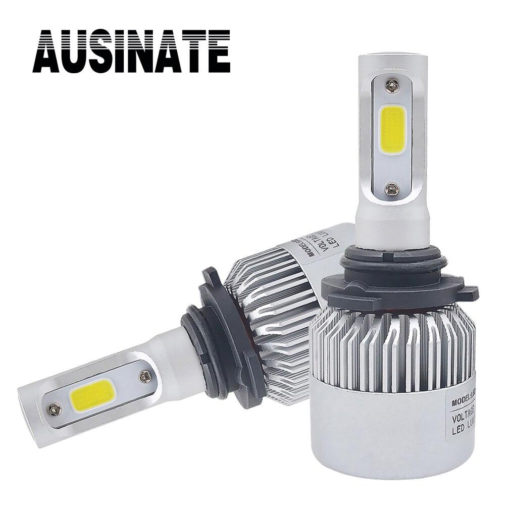 1 pár 9006 HB4 LED autosvětla super jasná světla do mlhy světla automobilové světlomety 6500k 72W žárovky pro automobily