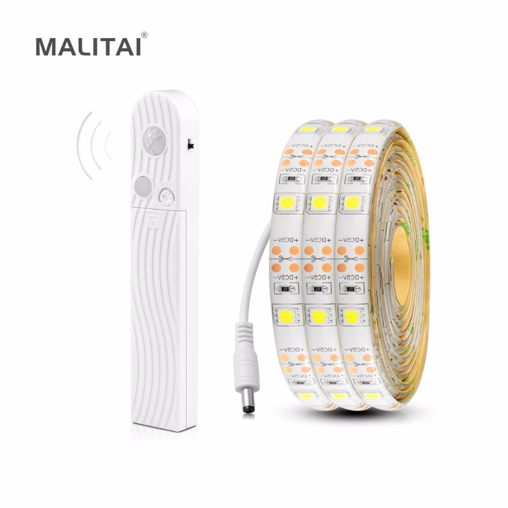 5 V Usb Led Franja De Las Lámparas De Decoración De Sensor De Movimiento De Luz Led Smd 5050 Tira 1 M 2 M 3 M Para Bajo Cama Armario Escaleras Tv Iluminación Siempre Compra Bien