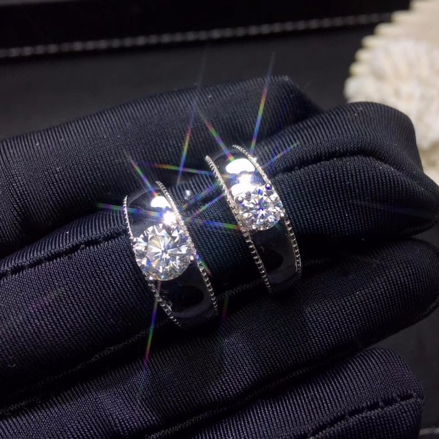 Moissanite 0.5ct קשיות 9.3, יהלומי תחליפים, יכול להיבדק על ידי מכשירים. תכשיטים פופולריים