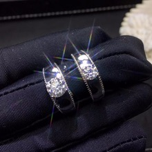 Moissanite 0.5ct Durezza 9.3, diamante sostituti, possono essere testati da strumenti. Gioielli popolare