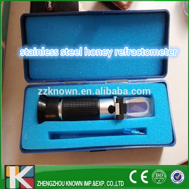 Handled honey refractometer tester/ beekeeping tool honey bee refractometer tri scale measurement portable honey refractometer beekeeping tester bees 58 90% brix 38 43 be baume 12 27% water range