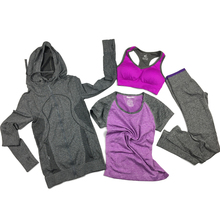tracksuit for women sports 4 pieces nylon solid short t-shirt bra sportswear workout clothes yoga sports sets