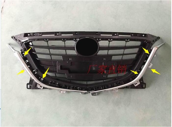 цена на car-styling case For Mazda 3 Axela 2014-2016 M3 CAR STYLING!Fashion! 1pc ABS Front Buttom Grill Grille Molding Cover Trim