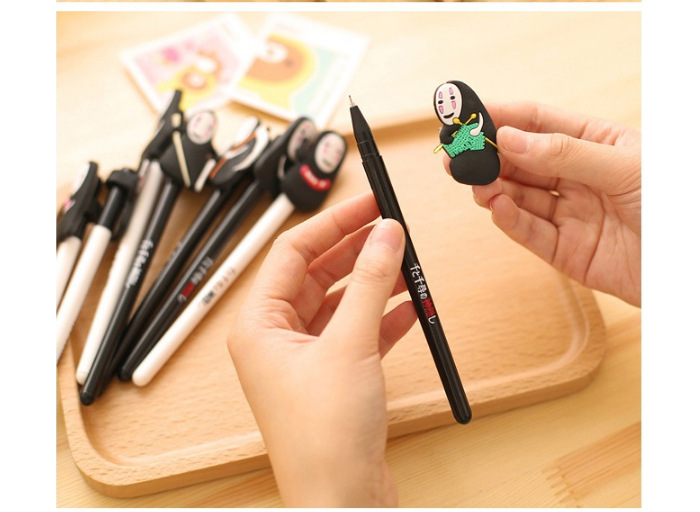 Image 5 - QSHOIC  25 PCS/lot South Korea stationery hayao miyazaki cartoon pen Spirited away ghost pen creative men without a cartoon faceghost pencartoon penspirited away pen -