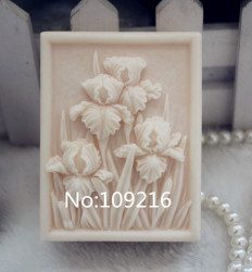 Wholesale 1pcs square flowers zx102 handmade soap mold crafts diy silicone mould.jpg 250x250