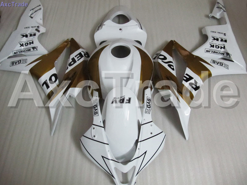 White Moto Fairing Kit For Honda CBR600RR CBR600 CBR 600 RR 2007 2008 F5 Fairings Custom Made Motorcycle Injection Molding C107 gray moto fairing kit for honda cbr600rr cbr600 cbr 600 f4i 2001 2003 01 02 03 fairings custom made motorcycle injection molding