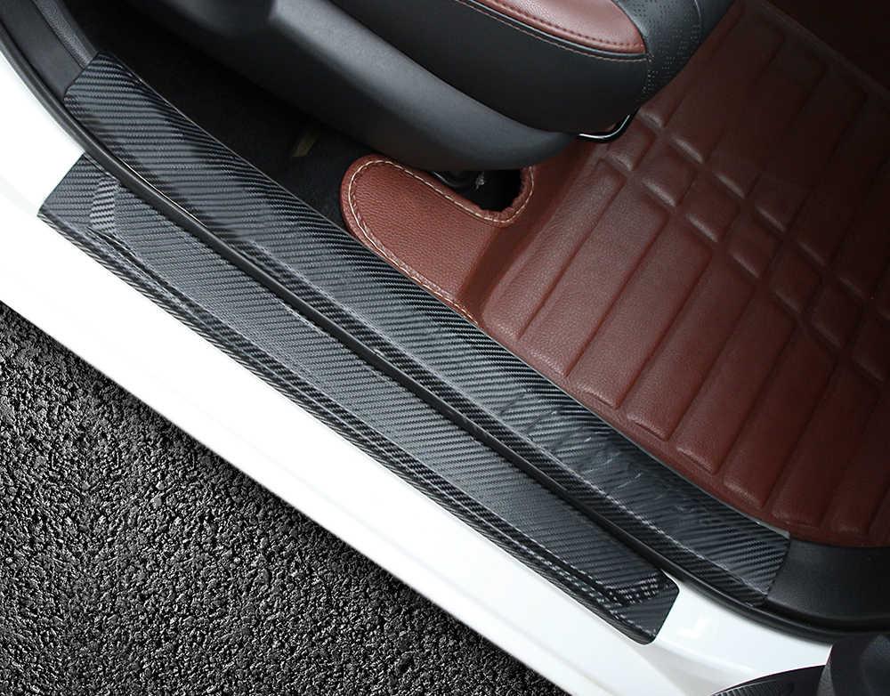4 шт. автомобильный Стайлинг Автомобильная дверная наклейка для порога защитная пленка анти для Toyota corolla rav4 camry prius hilux avensis аксессуары Горячая Распродажа