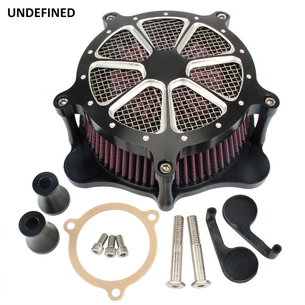 New Venturi Air Cleaner Billet Aluminum Air Filter System for Harley Touring Trike 2008 2016 Dyna