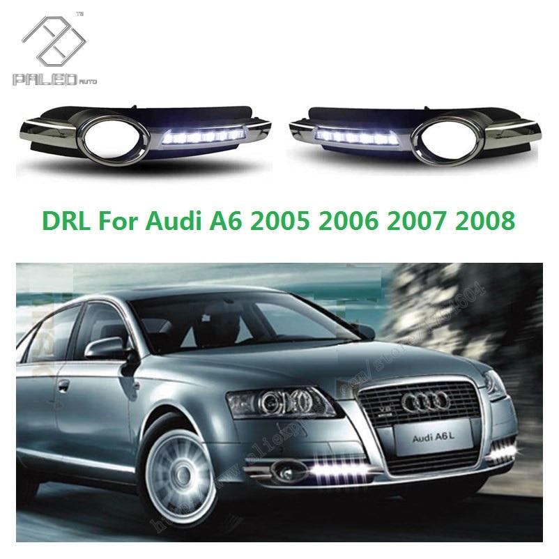 For Audi A6 C6 2005 2006 2007 2008 New High Quality LED DRL Daytime Running Light