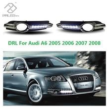 Для Audi A6 C6 2005 2006 2007 2008 New Высокого Качества СИД DRL Дневного Света С Проводом Жгута С Подарком