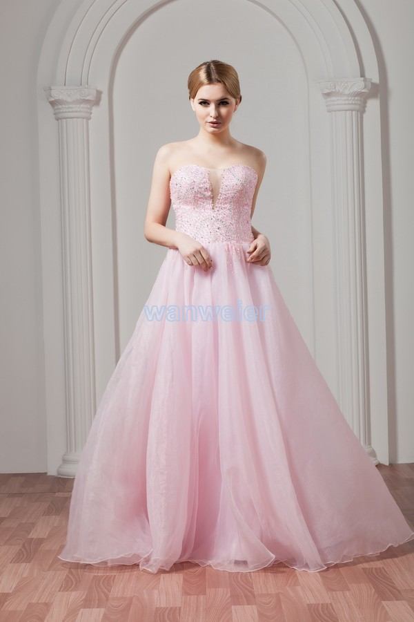 free Shipping Limited Natural 2016 New Formal Gown Sexy Beading Custom Size/color Special Occasion sweetheart Ball Prom Dress
