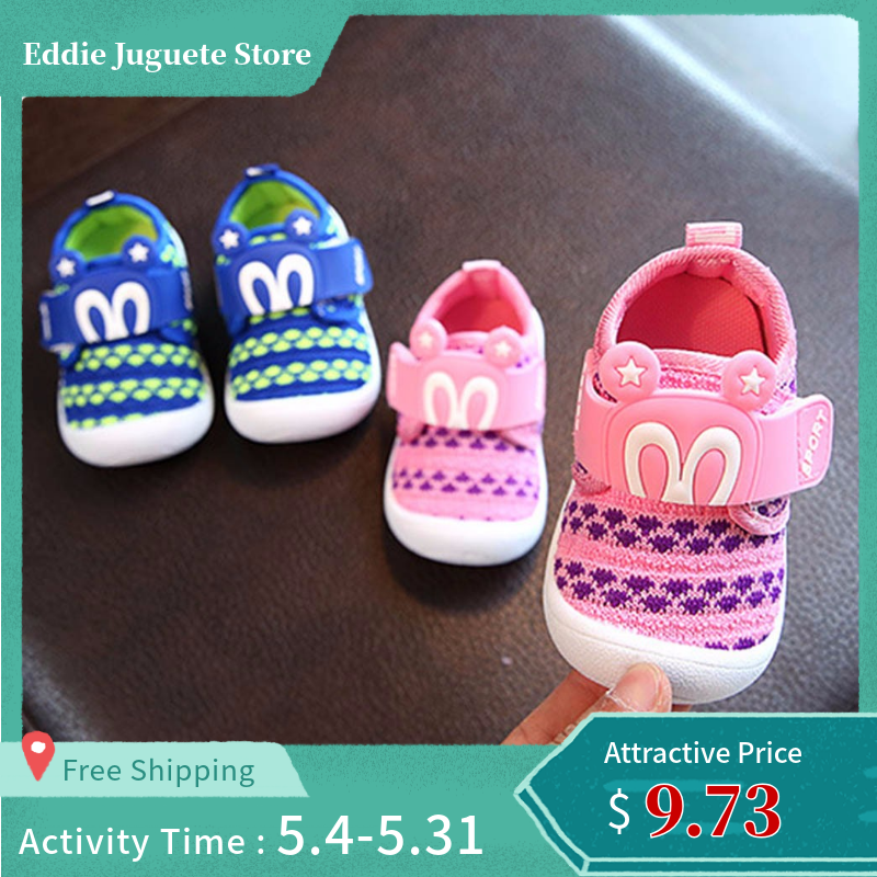 CHAMSGEND  Toddler Children Kids Baby Cartoon Star Rabbit Ears Squeaky Single Shoes Sneaker june20 p30  ping