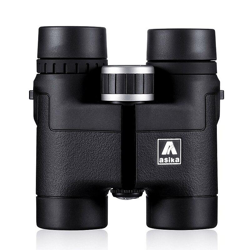 Asika 8x32 компактный бинокль для наблюдения за птицами HD Военная Униформа телескоп для Охота и путешествий с ремешком высокий прозрачный видения черный