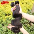 Birmanês virgem cabelo 6A grau 3 pcs lot preto natural color # 1b 100% do cabelo humano dobro drawn trama máquina onda do corpo birmanês virgem