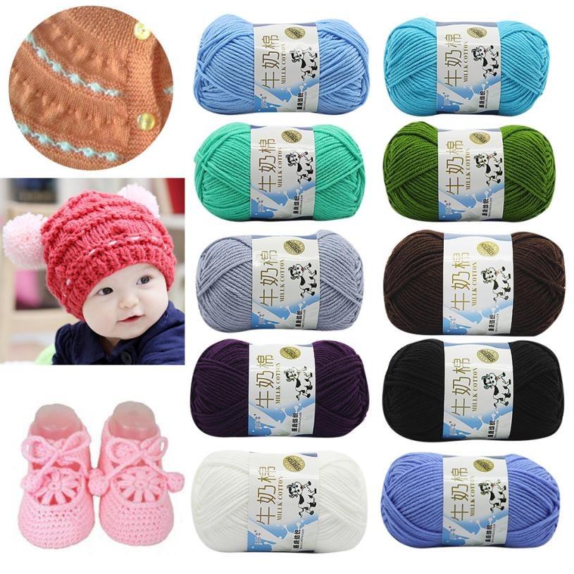 SALE LOT Of 1PC 50g/ball Chunky Colorful Hand Knitting Scores Milk Cotton New Style Chunky Yarn For Hand Knitting Women Baby Hat