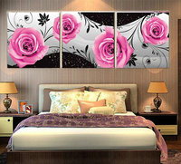 DIY Diamond Painting Cross Stitch Flowers 3D Full Round Diamond Embroidery Red Roses Pattern Rhinestones Mosaic