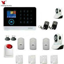 YoBang безопасности сенсорная клавиатура Wi-Fi Gsm ios Android Беспроводной дома бургар сигнализации Системы+ Беспроводной Вспышка Сирена+ Беспроводной IP камера