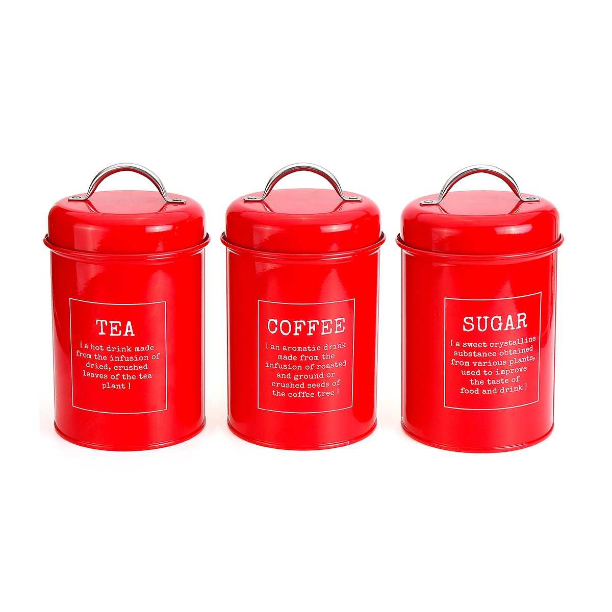 Image 3 - 3Pcs/Set Storage Tank Cover Steel Kitchen Utensils Multifunction  Sugar Tea Coffee Box Case Household Food Canister Snack TankStorage  Bottles