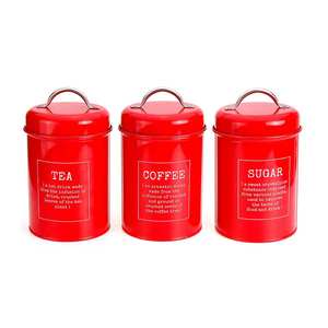 Image 3 - 3Pcs/Set Storage Tank Cover Steel Kitchen Utensils Multifunction Sugar Tea Coffee Box Case Household Food Canister Snack Tank