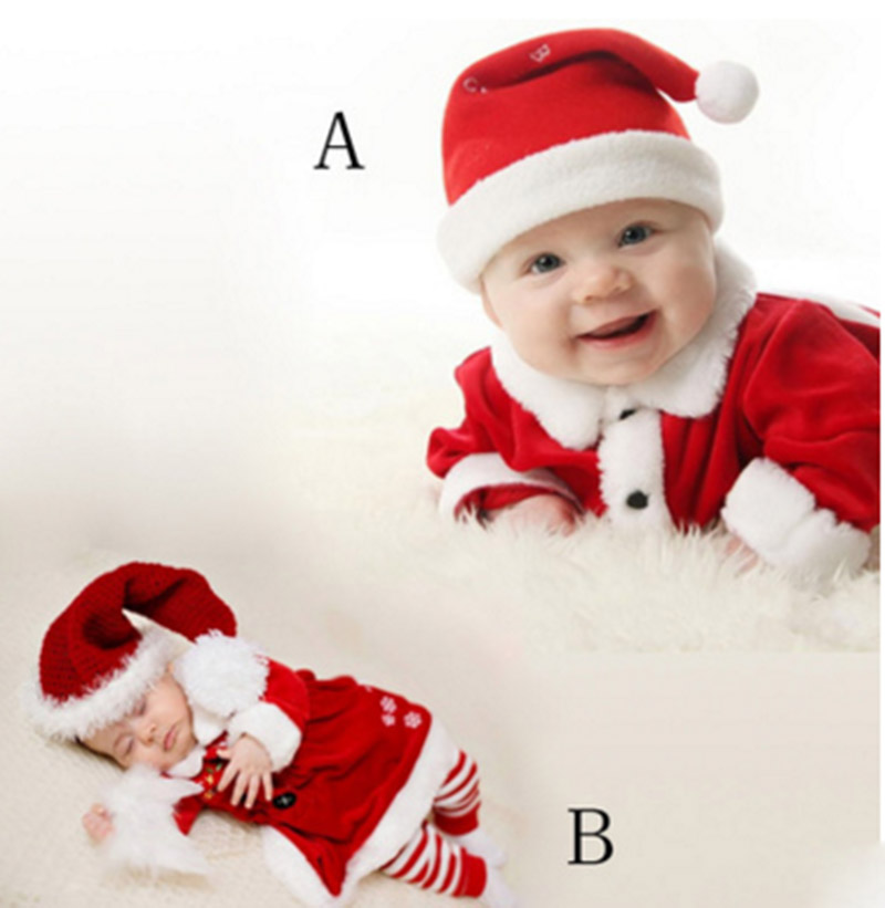 High Quality Toddlers Cosplay Christmas Santa Claus Costume Baby Boys Girls Set New Year's Costume Christmas Party Clothing
