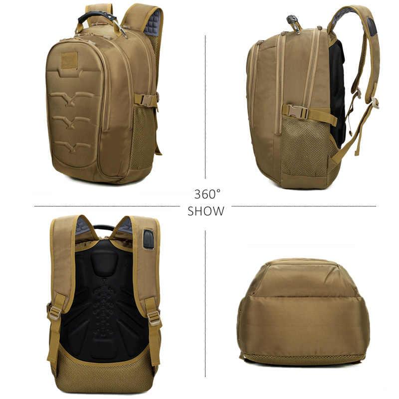 Sacs à dos militaires tactiques extérieurs chauds 40L Molle sacs de charge USB haute capacité sac à dos d'escalade multifonction pour hommes femmes