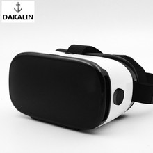 Virtual Reality Smartphone 3D Glasses VR Headset Google Cardboard Leather Version Helmet vrbox for 4-6 inch Phone