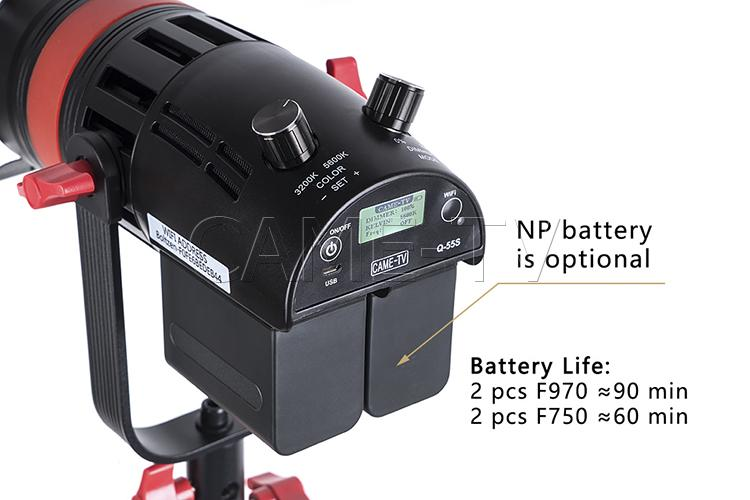 Image 3 - 3 Pcs CAME TV Q 55S Boltzen 55w High Output Fresnel Focusable LED Bi Color Kit With Light Stands-in Photo Studio Accessories from Consumer Electronics