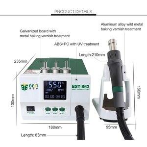Image 5 - Estación de soldadura de alta potencia de 1200W, pantalla Digital sin plomo, visualización táctil, pistola de aire caliente, Estación de Reparación SMD termostática