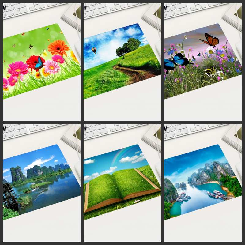 XGZ Special Sale Part Of The Country Free Shipping Landscape Flower Mouse Pad Small Size Rectangular Slip Suitable For Laptop