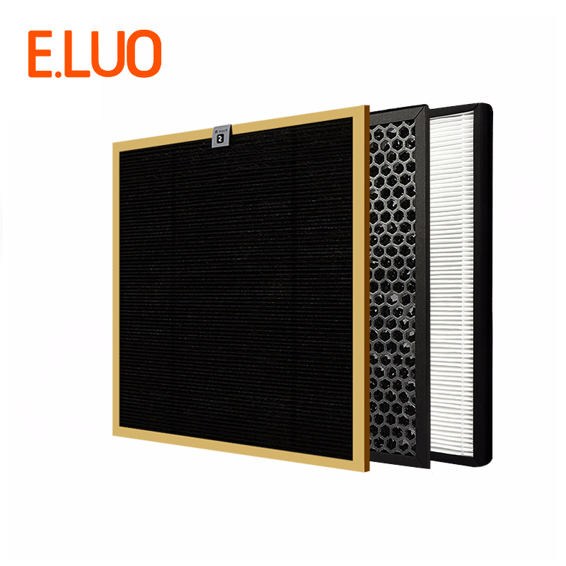 Cheap Filter Kit AC4142 AC4143 AC4144 Activated Carbon Filter+Formaldehyde Filter+HEPA for AC4072 AC4086 Air Purifier
