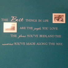 The Best Things In Life Vinyl wall decals