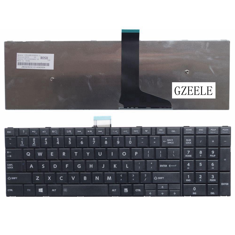 GZEELE NEW US English Keyboard For Toshiba Satellite C50D C50-A C50-A506 C50D-A C55 C55T C55D C55-A C55D-A Laptop Keyboard