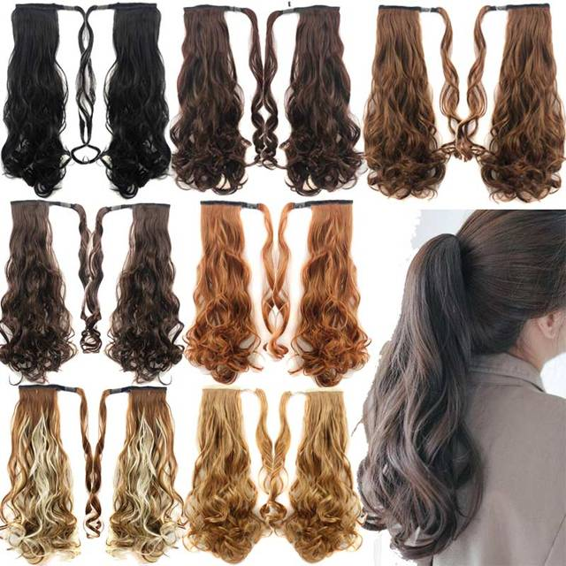Fake Hair Ponytails Hairpieces Hair Tails Curly Synthetic Ponytail