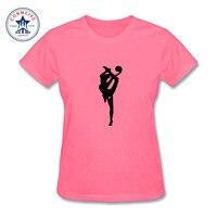 2017 Kobiet Mody Dziewczyna Piłka Gimnastyka Rytmiczna Dziewczyna Projekt Skrótu Rękawa T koszula Fantastyczne Wydrukowano Tops Casual Tees