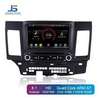 JDASTON Android 8.1 Car DVD Player For Mitsubishi Lancer EX EVO Lancer 10 Multimedia GPS Navigation 2 Din Car Radio IPS Stereo