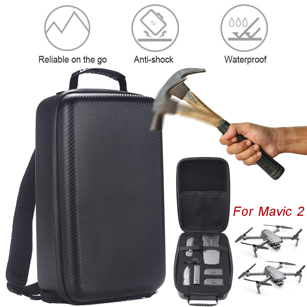 Portable Carrying Bag For DJI Mavic 2 Pro/Zoom  Carrying Case Hard Backpack Bag Waterproof Anti-Shock Storage Bags New 715#2