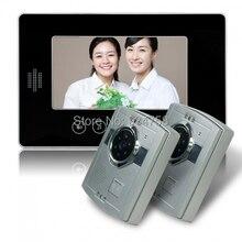 2V1 7 pulgadas TFT LCD Monitor 1/3 CMOS de visión nocturna cámara Video de la puerta sistema de teléfono