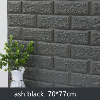 DIY Self Adhensive 3D Brick Wall Stickers Living Room Decor Foam Waterproof Wall Covering Wallpaper For TV Background Kids Room 7