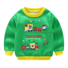 2019 neue Infant Hoodie Baby Sweatshirt Langarm Cartoon Baumwolle Baby Hoodies Dicke Warme Outwear Baby Herbst Winter Kleidung(China)