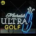 Неоновые вывески для Michdob Ultra Golf light  украшение для праздничной комнаты  ручная работа  рекламные товары  anuncio luminoso  Прямая поставка