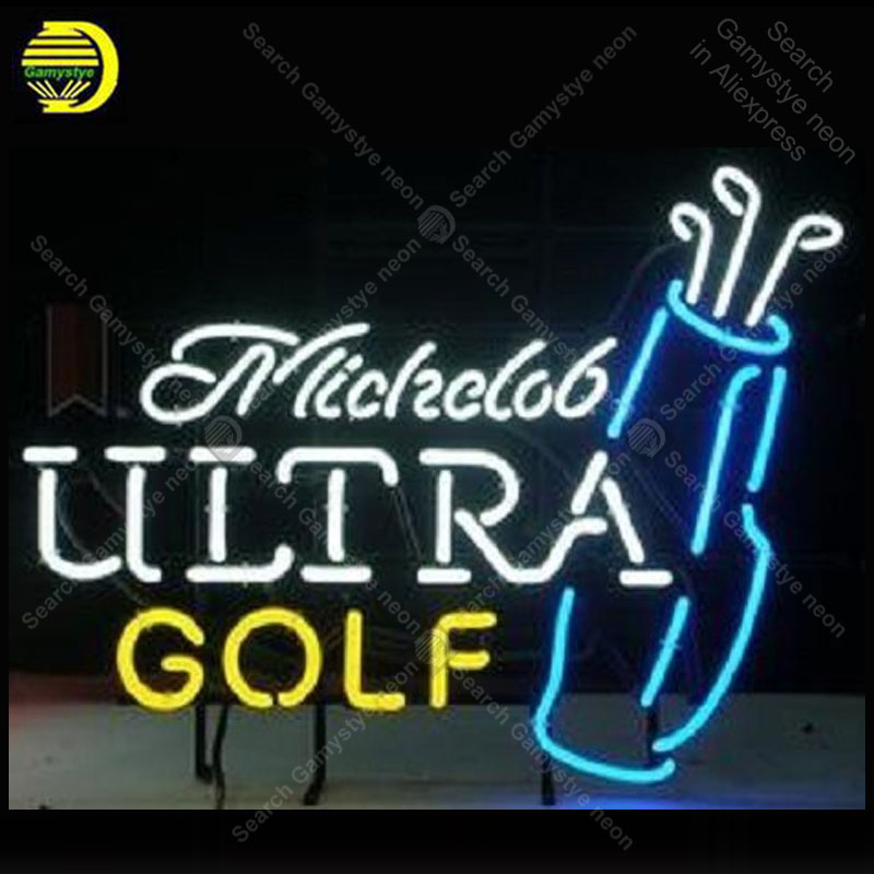 Sinais de néon para michdob ultra golf luz decorar festa quarto artesanato publicidade anuncio luminoso luz publicidade dropship