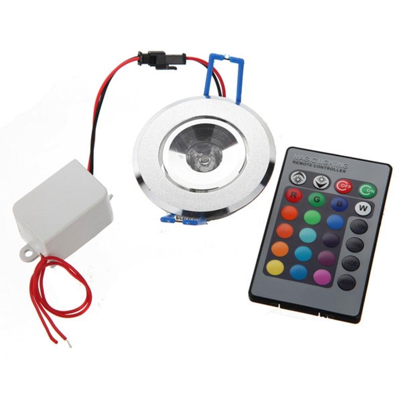3 Вт 85-265 В rgb потолочный светильник бра Встраиваемые прожектор лампы с Дистанционное управление RGB светодиодный лампы КТВ DJ Вечерние