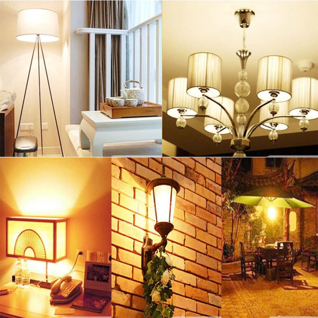 E14 5W 2835 SMD LED Candle Flame Light Bulb Lamp cold Pure Warm White 220V Lamps & Lighting Sports & Outdoors Home & Kitchen