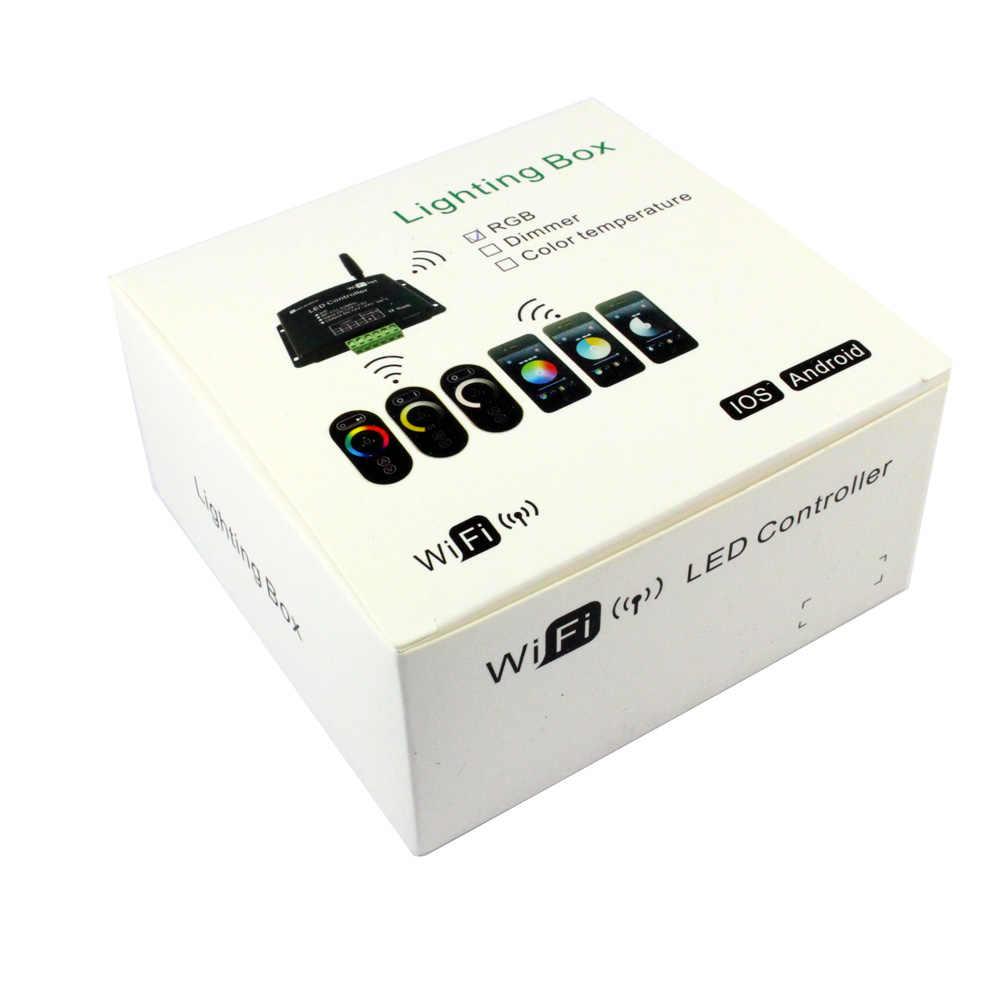 Сенсорный экран Wifi RGB светодиодный контроллер 12V 24V 12A приложение Android RF Беспроводной Wi-Fi диммер контроллер для RGB CT один Цвет Светодиодные ленты светильник