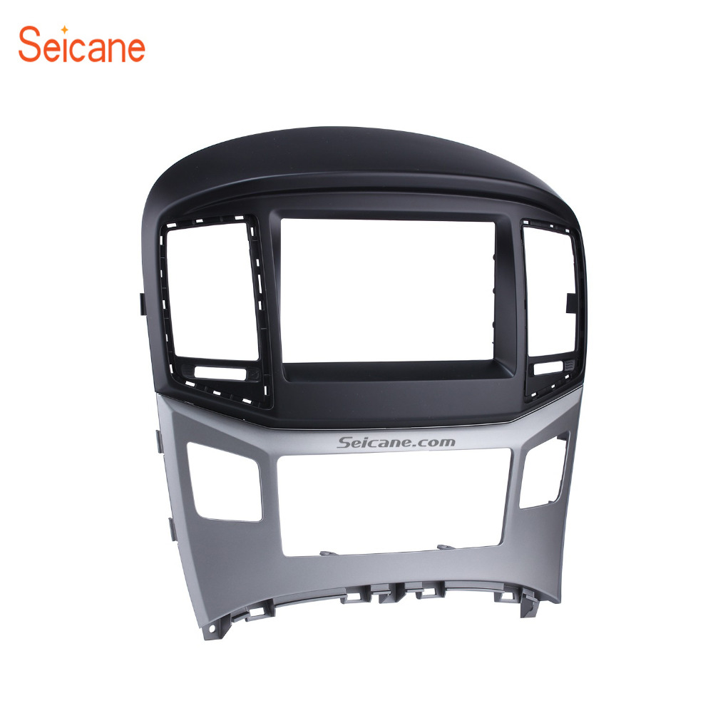 Seicane Double Din Car Stereo Frame Fascia CD Player Plate Panel Refitting Cover Trim Kit Bezel