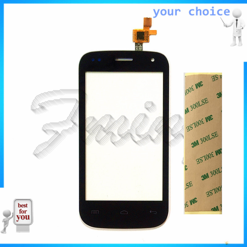 RUBINZHI Mobile Phone Touch Screen Sensor Lens Touch Panel For Fly IQ445 Front Glass Touchscreen Digitizer Panel Parts +