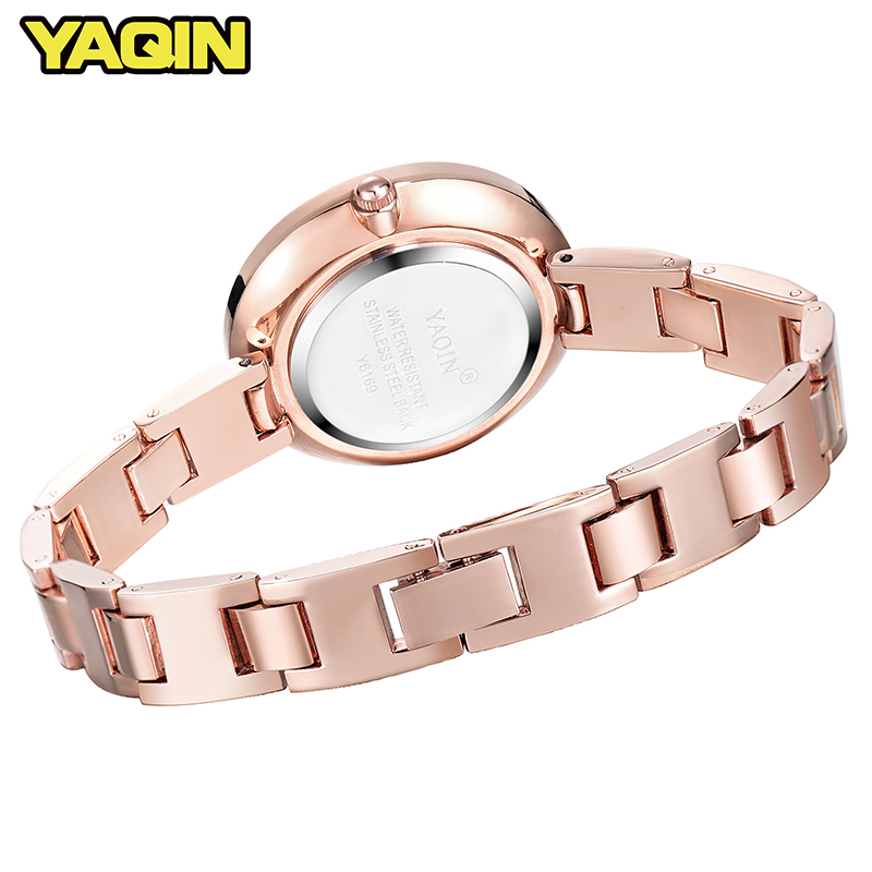 2018 Fashion Ladies Quartz Watches Top Brand Luxury Bracelet Business Women 39 s Watch Waterproof Diamond Gold Watch reloj mujer in Women 39 s Watches from Watches