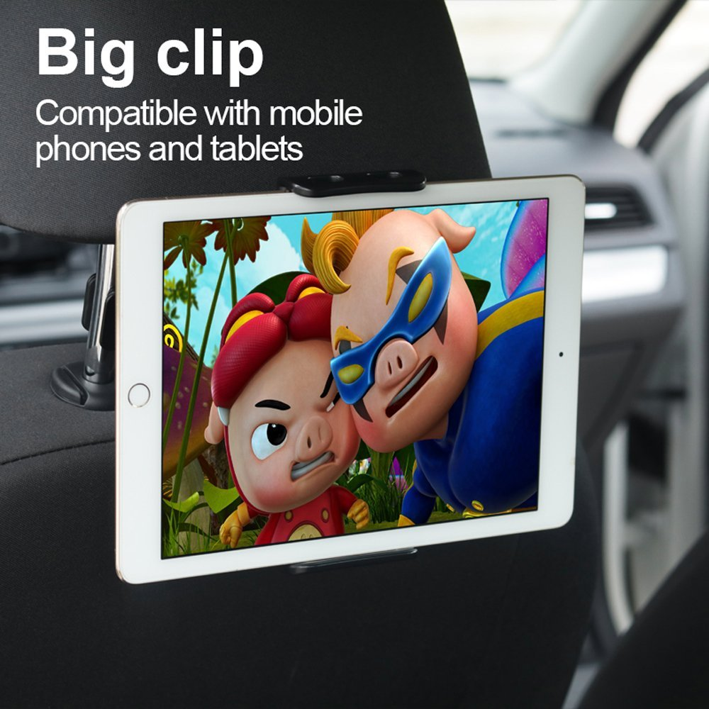 Suntaiho 360 Degree Rotate Car Back Seat Holder for iPhone iPad Mini Air Pro Rear Pillow Stand for Samsung Xiaomi Tablet Device